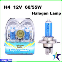 Wholesale New One Pair H4 Super White Halogen lamp Auto Car Head Light Bulbs Lamp V W W Car lighting Revolution