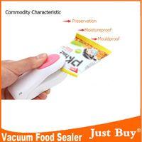 Wholesale Food Vacuum Sealer Save Home Portable Reseal Keep Food Moistureproof Speed sealing machine for Food Plastic storage bags
