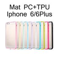 Transparent Mat Gel de couverture PC + TPU dur transparent Bumper Case pour iPhone 5 5S 6 6S plus Samsung S5 S6 bord Note 4 5