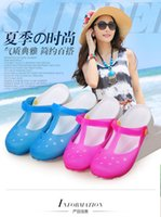 Wholesale 2015 summer new fashion women jelly sandals hole shoes garden sandals with flat sandals flat jelly shoes