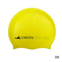 Wholesale 2016 New Adults Siliver Swimming Cap Brand High quality Silicone Solid colors Diving cap for women and men particle swimming cap