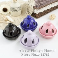 Wholesale Simple Pagoda Hollow Ceramic Incense Cones Sandalwood Incense Vaporizer Furnace Incense Coil Holder