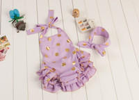 petti romper - newborn clothes baby gold dot romper sets baby girls lace petti rompers headbands toddler backless tutu onesies one piece baby swimwear p