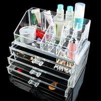 Cheap Wholesale-cc bag Acrylic Makeup Cosmetic Organizer Drawer Holder Clear Display Storage Jewelry Box eiffel tower stylenanda