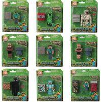prices - Lowest price Minecraft JJ styles Enderman creeper Mooshroom Action Figures DIY Building Blocks Bricks fast shipping