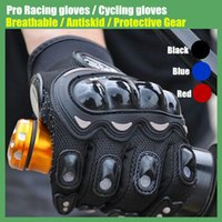 Wholesale PRO MTB Cycling Gloves Anti Slip Breathable Full Finger Knight Riding Motorcycle Bike Racing Gloves Protective Gear T0005