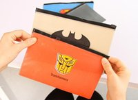 Wholesale Free ship pc Creative cartoon document bag A4 PVC pencil bag stationery order lt no tracking