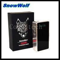Wholesale 100 Original Sigelei Snowwolf w Box Mod with Temperature Control snow wolf w VV VW box mod VS Fountain V2 Rda SNOW WOLF atomizer