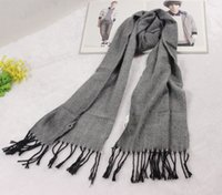 Wholesale Winter knit scarf men Warm cashmere tassel scarves shawl Three color desigual scarf