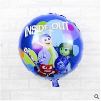 Wholesale 50pcs CCA1948 New Arrival Hot cm round Inside Out balloon foil helium balloons for classic toys birthday party decoration globos