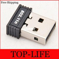 Wholesale 150Mbps M Mini USB WiFi Wireless Adapter Network LAN Card n g b GHz