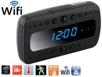alarm clock surveillance - HD P T10 Black Pearl Surveillance Wireless WIFI Camera Night Vison Spy DV IP Cam Alarm Clock