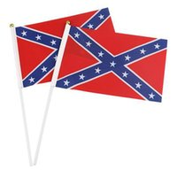 Wholesale Small Confederate Rebel Flag Civil War Flag Two Sides Printed Flag Confederate Battle Flags cm