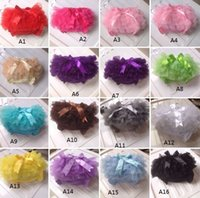 Wholesale Children lace shorts candy colored female baby princess bread pants pretty bows PP cotton panties Girl Skirt in stock ab