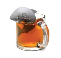 empty tea bags - Silicone strainers Tea Infuser Shark Shap Strainer infusor Empty Tea Bags Leaf Diffuser te infusores tea ball Accessories