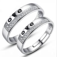 Joyería de moda VENTA CALIENTE anillos de plata esterlina 925 para mujeres y hombres amantes de diamantes anillos 2pcs / par 014
