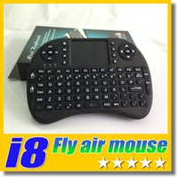batteries optical mouse - 2 G Rii I8 Mini Touch Fly Air Mouse Rechargeble Battery Wireless Keyboard Mouse C Touchpad PC