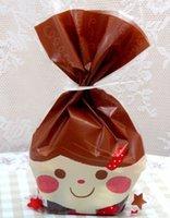 baby food packaging design - Lovely brown baby design biscuit cookie bread plastic bag OPP food bag Bakery packaging bag