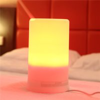led light diffuser - Portable Aroma Diffuser LED Night Light Humidifier Fresh Air Spa for Home Office for Sale LM