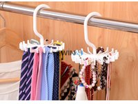 Wholesale Hot Selling Rotating Ties Rack Hook Neck Ties Organizer Men Rotating Adjustable Tie Hanger Holder