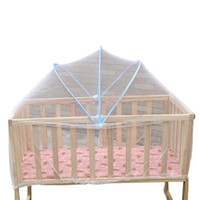 Wholesale 2015 Home cm Elegant infant Mesh Universal Baby Cradle Bed Mosquito Nets Summer newborn Safe Arched Mosquitos Net Childs