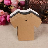 Wholesale 100 cm Cloth Shaped Kraft Paper Party Wedding Note DIY Blank Price Gift Packaging Labels Hang Tag Marked Paper Card