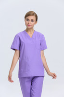 Wholesale 2015 OEM scrub sets medical uniforms women scrubs cotton nurse scrub suit plus size hot selling