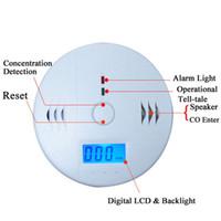Wholesale LCD Sensor Warning CO Carbon Monoxide Poisoning smoke Gas Alarm Detector Tester LCD DHL