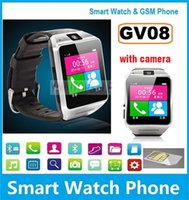 """Cheap Luxury Wearable GV08 Smart Watch Phone With 1.3Mp Spy Camera 1.5"""" Touch Screen Bluetooth Wristwatch For iPhone Samsung Android Phone 10pcs"""