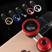 Wholesale Universal in Wide Angle Macro Lens Fisheye Fish Eye Clip Mobile Phone Lens For Apple iPhone C Plus Samsung S6 HTC LG Sony etc