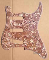 Wholesale For US Standard Screw Strat Guitar Pickguard Ply Brown Pearl Shell