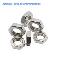 Wholesale A2 Stainless Steel Thin Hexagon Nuts Jam Thin Nut Half Nut M3 to M10 Metric