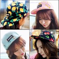Wholesale Korea purchasing summer cherry pineapple banana lemon fruit hip hop cap flat along the Korean version of the influx of men and women basebal