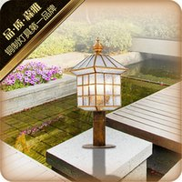 american aluminum doors - Lighting american rustic lawn lamp garden lights the door outdoor waterproof copper aluminum column lamp lamps