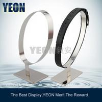 Wholesale YEON elegant stainless steel mirror belt display unique design belt rack stand shop fixture for fashion stores