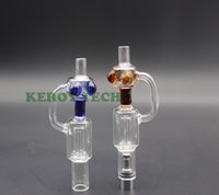 glass domes - New arrival no spill glass water color bicirculating bubbler dual single coil with huge vaping fit for ego thread and dab wax pen dome