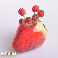 accessories sign decoration - Fruit fork ceramic fruit sign personalized accessories decoration
