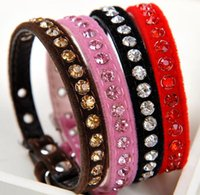 Wholesale Pet supplies Exquisite luxury diamond collar pets cats Teddy dogs Neck ring color random