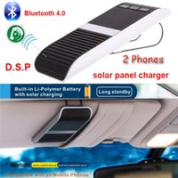 Wholesale Wireless Car Bluetooth Handsfree Kit Speakerphone Solar Powered Charger m Distance Hands Free Car Support Phones Speaker K2233