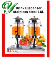 beverage dispenser stand - drink dispensers with stand stainless steel spigot ice chamber plastic double juice container beverage jar silver gold L jug buffet server