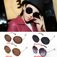 retro style sunglasses - New Arrivals Unisex Women Lady Sunglasses Sun Glasses Retro Vintage Style Round Metal Frame Without Retail Packages GX16