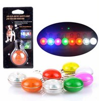 Wholesale Pet Supplies dog LED flash safety night light clip safety pendant tag lights dogs Blinker Collars equipment colors