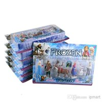 Wholesale New Fashion Frozen Anna Elsa Hans Kristoff Sven Olaf PVC Action Figures Toys Classic pcslot free dropshipping retail package