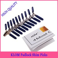 aircraft tools sale - 5set klom Padlock Shim Picks Aircraft Folder Set Padlock Pick Locksmith tools hot sale in stock