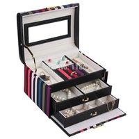 Wholesale US Stock ROWLING Fashion Jewelry Box Bracelet Ring Jewelry Storage Box Cufflinks Beads Organizer Display Box New PZ229