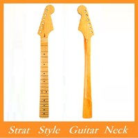 Wholesale BRAND NEW Replacement Maple Fingerboard Dot Fret ST Strat Electric Guitar Maple Neck Strat Style Guitar Neck Via DHL