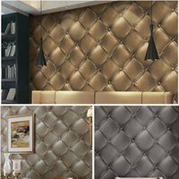 Wholesale US Stock D Vinyl Faux Leather textured wallpaper m mwall paper for home living room office bar decoration