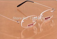 Wholesale Rimless Black Titanium Reading Glasses Frames Antiglare Polycarbonate Lens Presbyopic