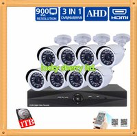 Wholesale CIA CCTV System CH HDMI DVR AHDHD Video Night Vision IR CUT Security indoor outdoor cctv Cameras System Kits Use wireless android