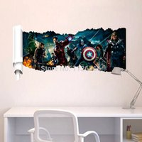 america art - 1432AThe Avengers Captain America D Wall Sticker Wall decals WALL STICKER Decor Art Mural Iron Man Hulk for Boys Room Cartoon Movie Sticker